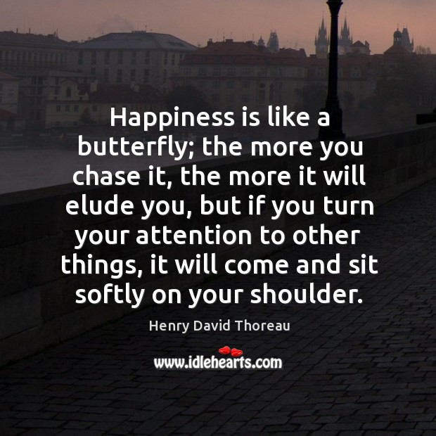 Image, Happiness is like butterfly.