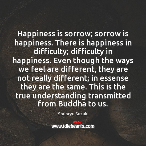 Happiness is sorrow; sorrow is happiness. There is happiness in difficulty; difficulty Image