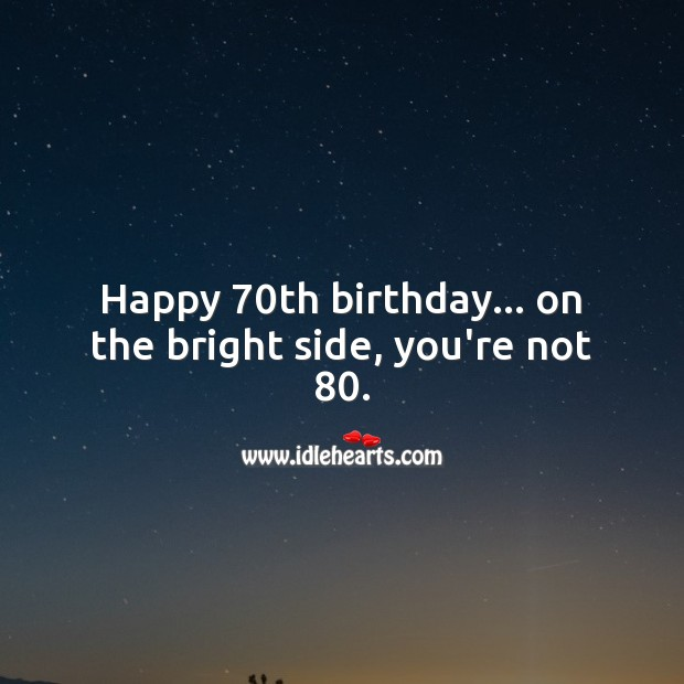70th Birthday Messages