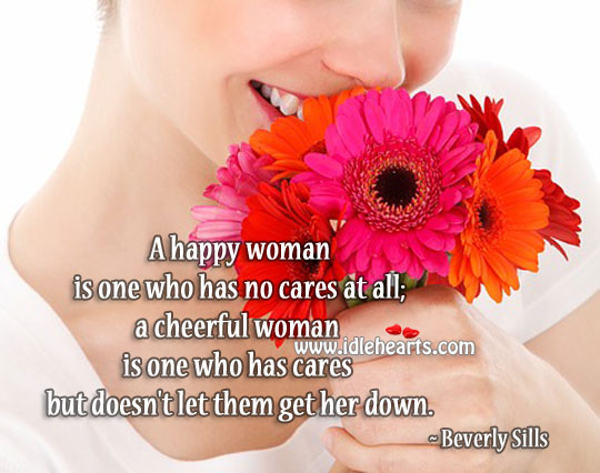 Happy And Cheerful Woman