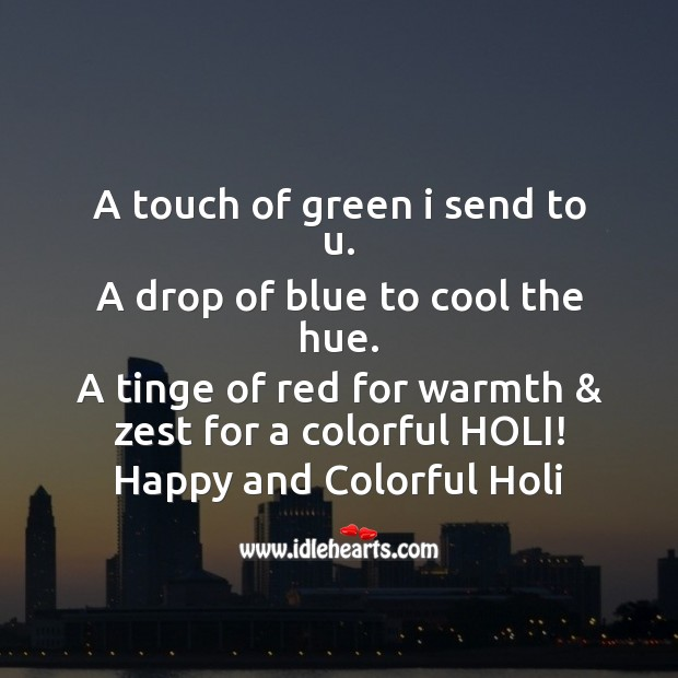 Happy and colorful holi Holi Messages Image