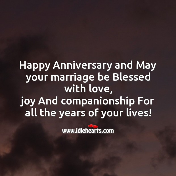Image, Happy anniversary and may your marriage be blessed with love