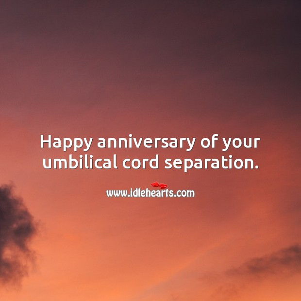 Happy anniversary of your umbilical cord separation. Funny Birthday Messages Image