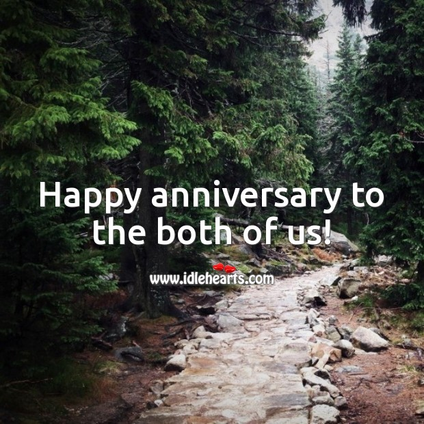 Happy anniversary to the both of us! Wedding Anniversary Messages for Husband Image