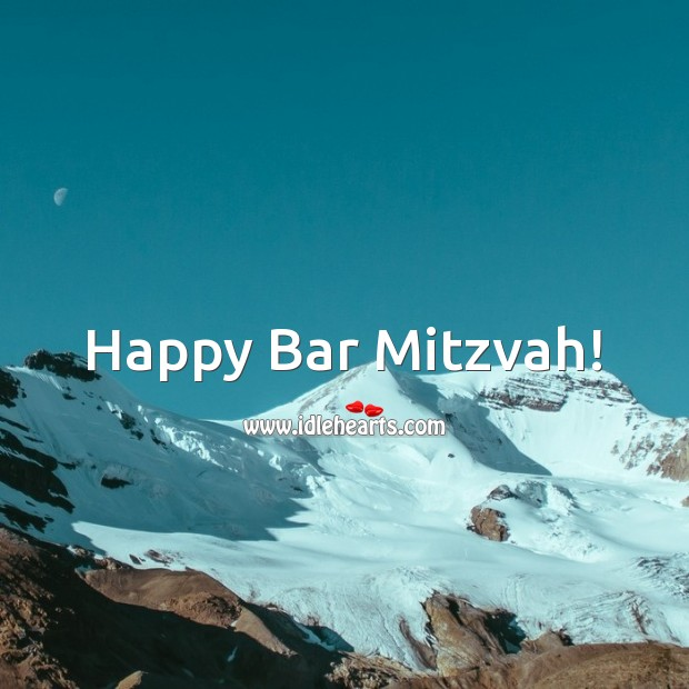Happy Bar Mitzvah! Bar Mitzvah Messages Image