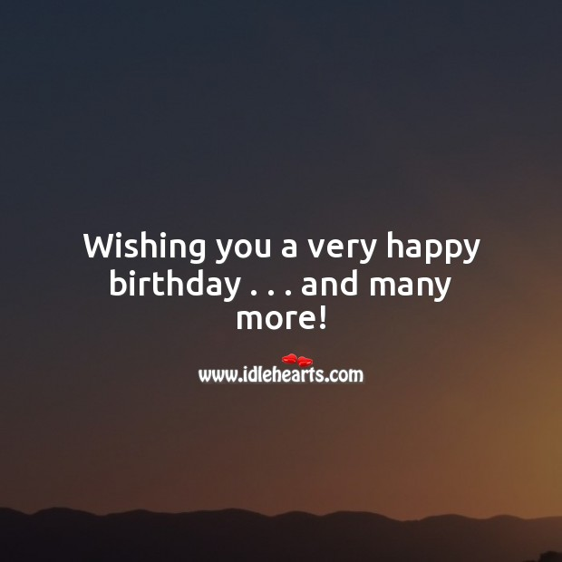 Image, Happy birthday… And have many more!
