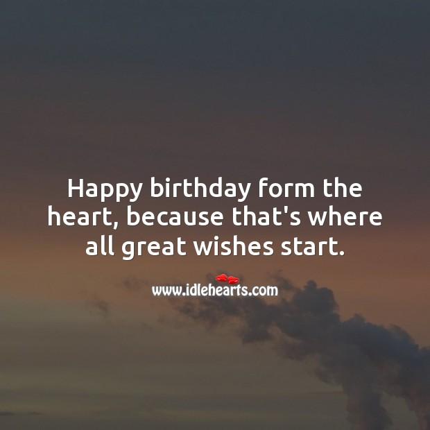 Happy birthday form the heart. Happy Birthday Poems Image