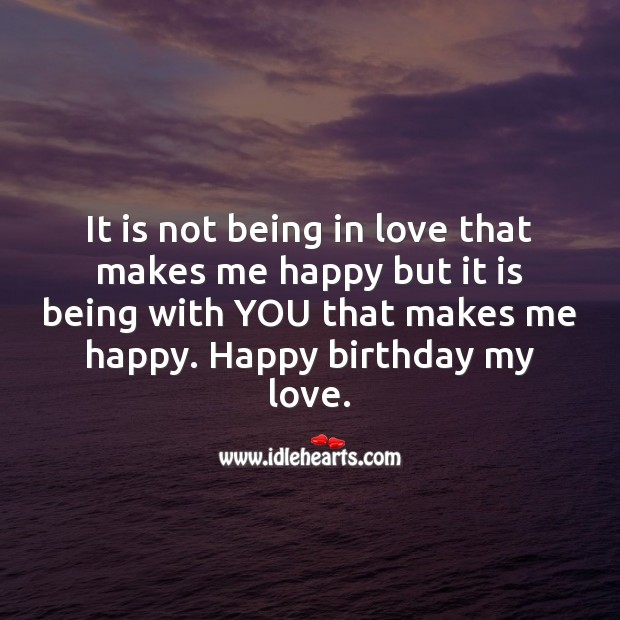 Happy birthday, love of my life. Birthday Love Messages Image