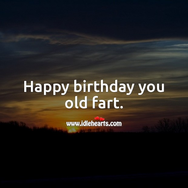 Happy birthday you old fart. Funny Birthday Messages Image