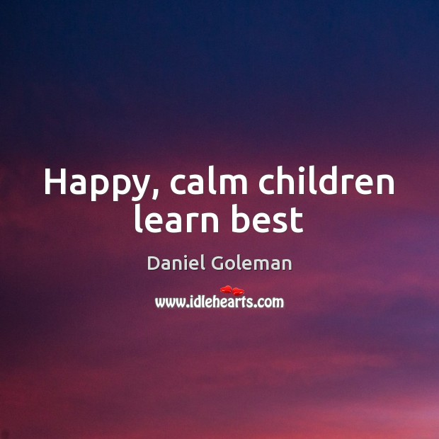 Image, Happy, calm children learn best