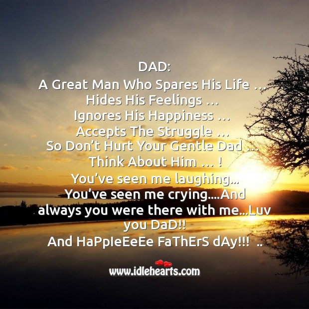 Happy fathers day… Dad!!! Father's Day Messages Image