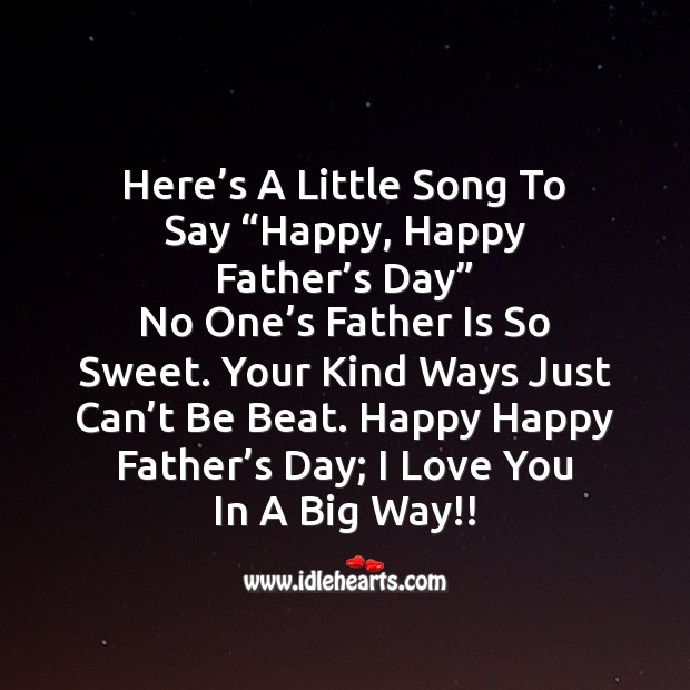 Happy happy father's day Father's Day Messages Image