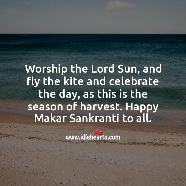 Happy Makar Sankranti to all. Makar Sankranti Wishes Image