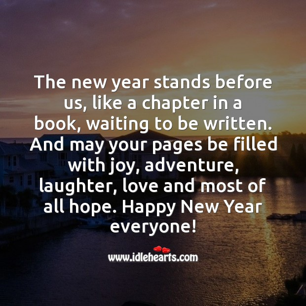 Happy New Year Beautiful Ones! Happy New Year Messages Image