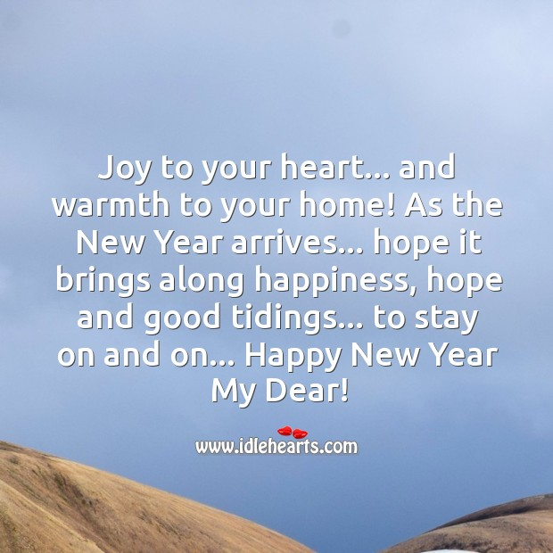 Happy new year my dear! Image