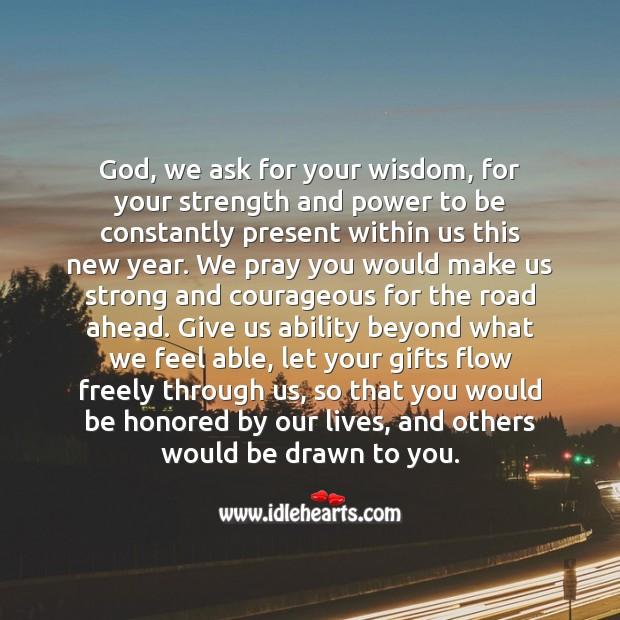 Happy New Year Prayer! Wisdom Quotes Image