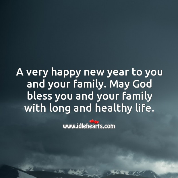 Image, Happy new year to you and your family.