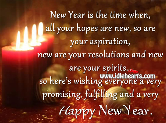 Image, Have a promising and fulfilling new year