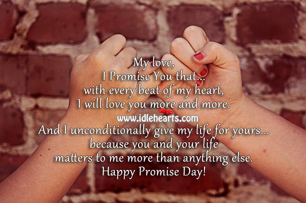 Image, Happy Promise Day – Promise to be faithful, supportive, and loyal.