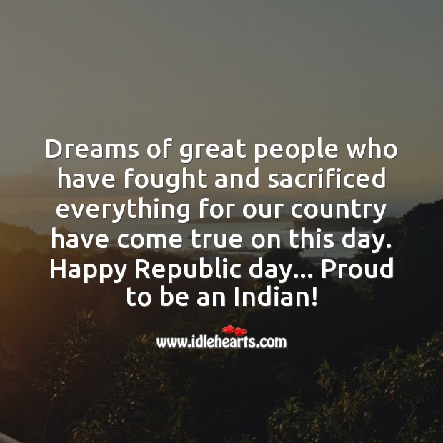 Happy republic day… Proud to be an indian Image
