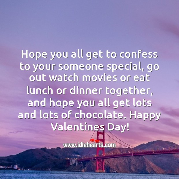 Valentine's Day Quotes image saying: Happy Valentine's Day, Everyone!