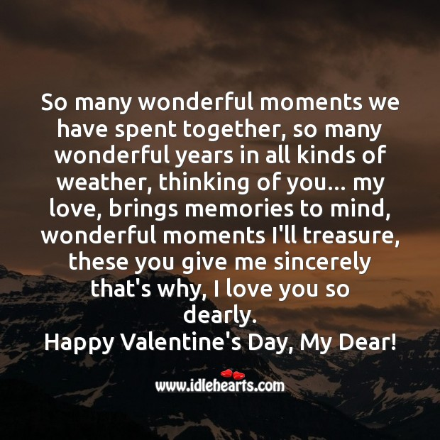 Happy valentine's day, my dear! Valentine's Day Messages Image