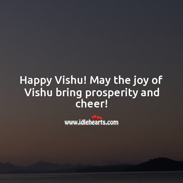 Happy Vishu! May the joy of Vishu bring prosperity and cheer! Vishu Messages Image
