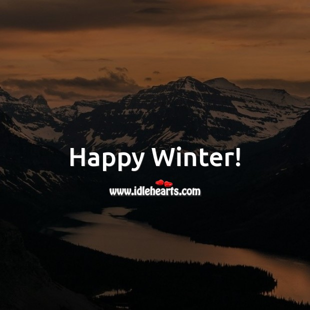 Happy Winter! Winter Quotes Image