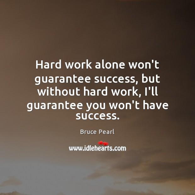 Image, Hard work alone won't guarantee success, but without hard work, I'll guarantee