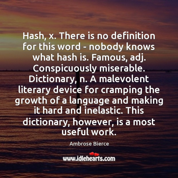 Image, Hash, x. There is no definition for this word – nobody knows