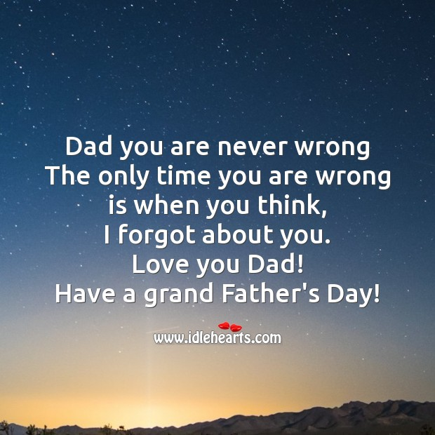 Have a grand father's day! Father's Day Messages Image