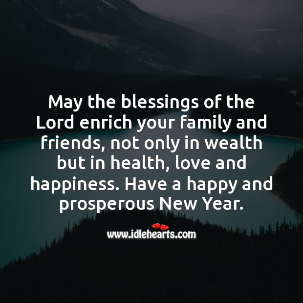 Have a happy and prosperous New Year. Blessings Quotes Image
