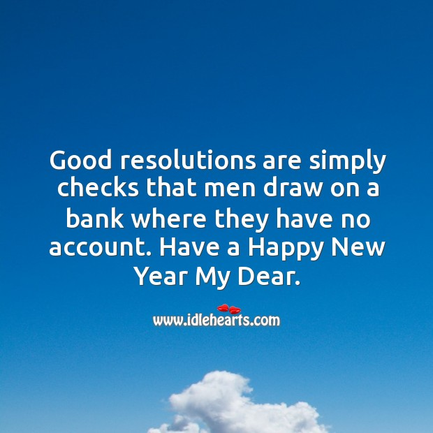 Image, Have a happy new year my dear.