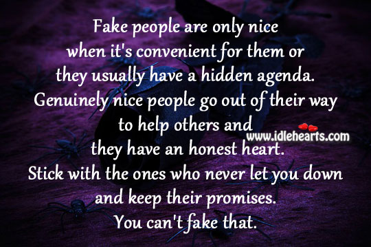 Fake people are only nice when Image