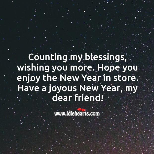 Image, Have a joyous new year, my dear friend!