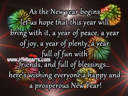 Happy & Prosperous New Year, Happy, New Year, Wishing