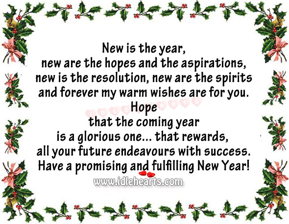 Wishing you a glorious new year! Image
