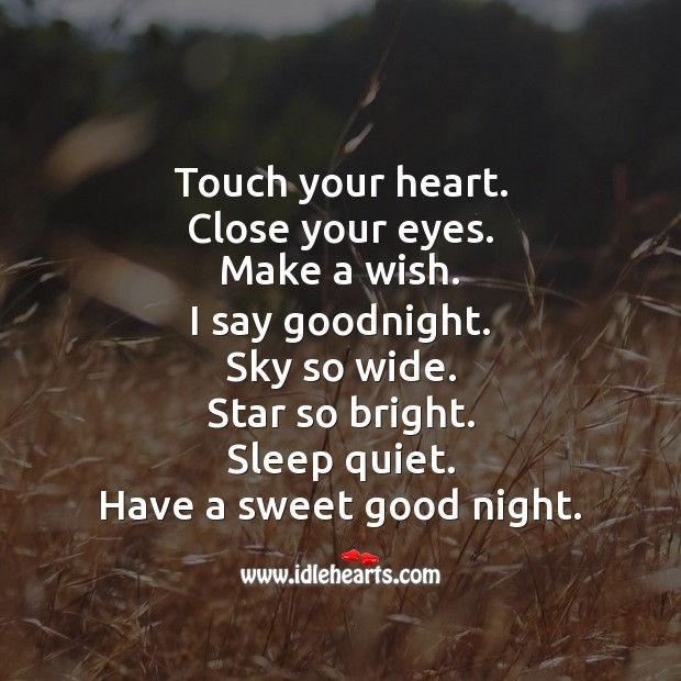 Have a sweet good night. Good Night Messages Image