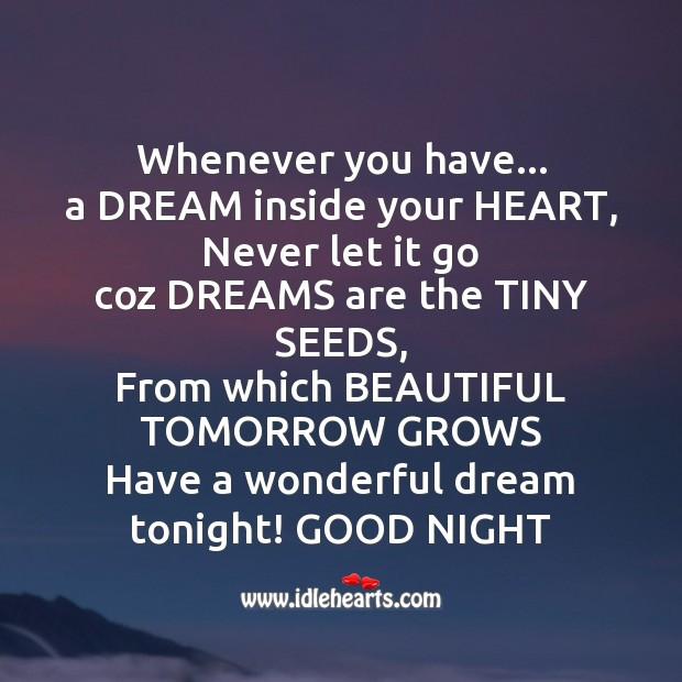 Image, Have a wonderful dream tonight!