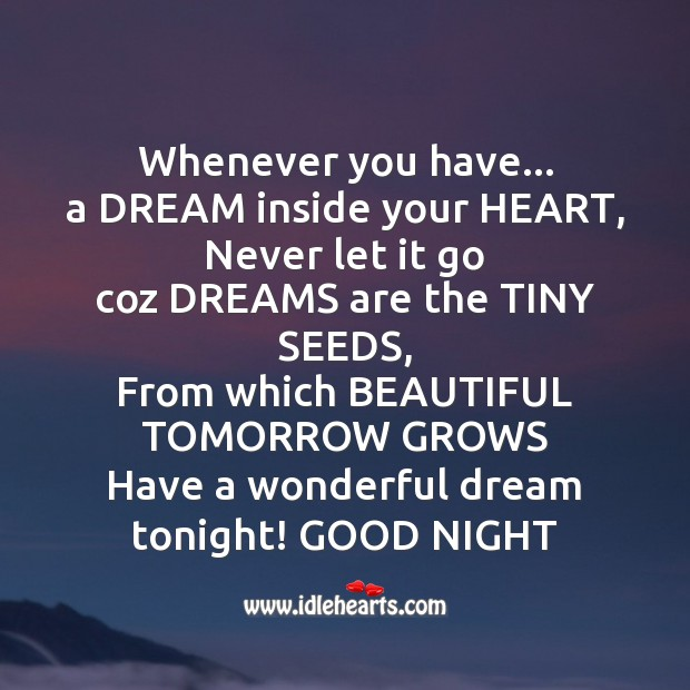 Have a wonderful dream tonight! Image