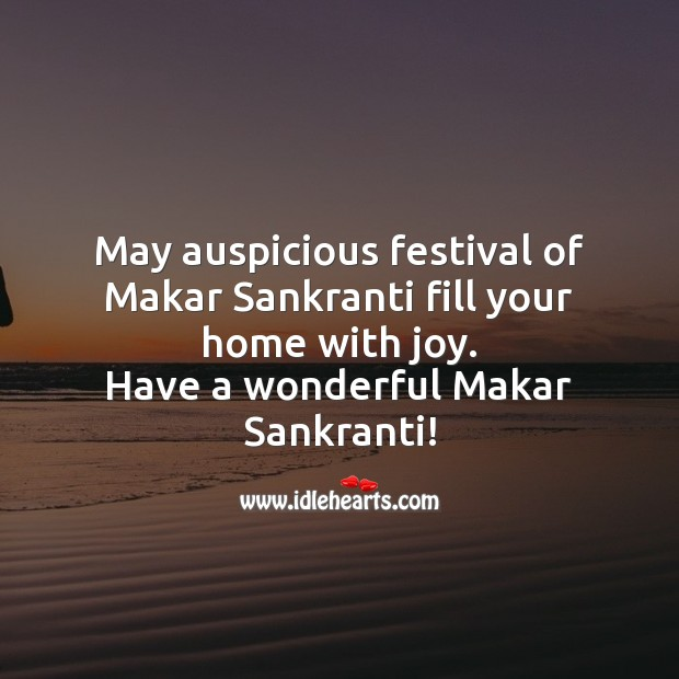 Have a wonderful Makar Sankranti! Makar Sankranti Wishes Image