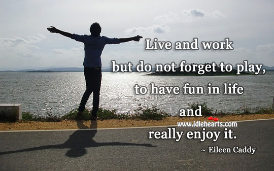 Image, Have fun in life and enjoy it.