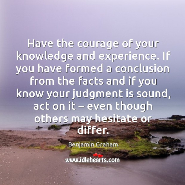 courage knowledge