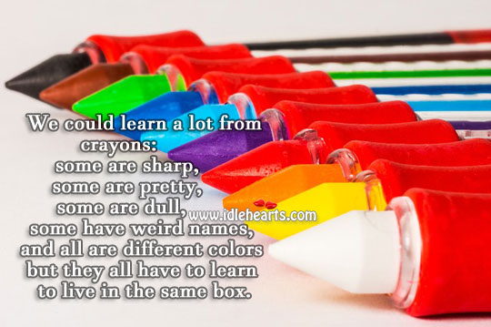We Could Learn A Lot From Crayons
