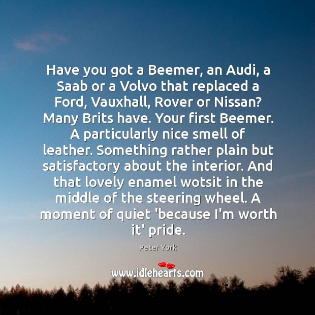 Have you got a Beemer, an Audi, a Saab or a Volvo Image