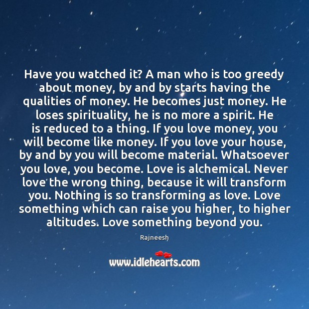 Have you watched it? A man who is too greedy about money, Image