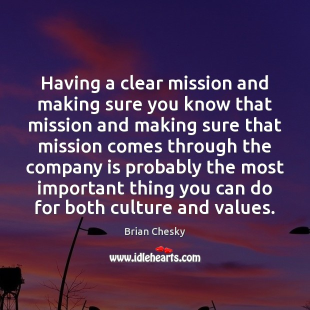 Image, Having a clear mission and making sure you know that mission and