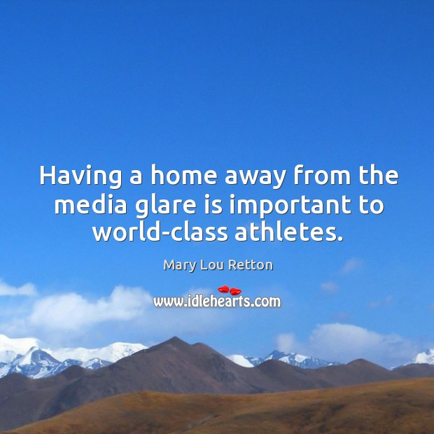 Having a home away from the media glare is important to world-class athletes. Image