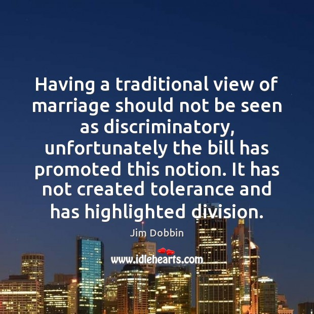 Having a traditional view of marriage should not be seen as discriminatory, Image