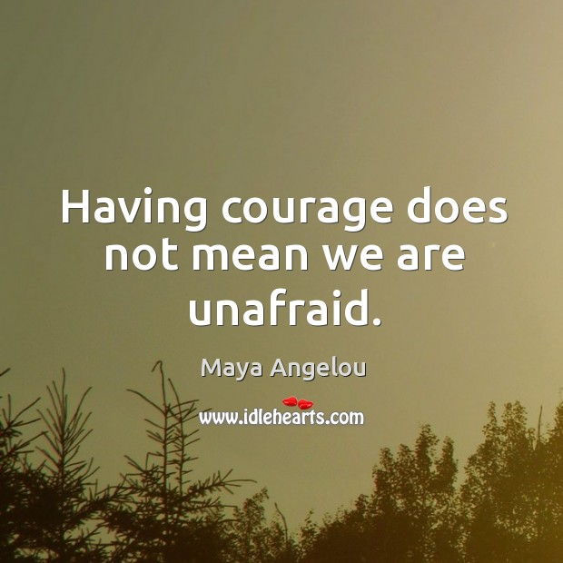 Image, Having courage does not mean we are unafraid.